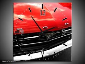 Wandklok op Canvas Ford | Kleur: Rood, Zwart | F001826C