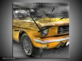 Wandklok op Canvas Mustang | Kleur: Zwart, Grijs, Geel | F002197C