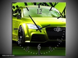 Wandklok op Canvas Audi | Kleur: Groen, Zwart | F002350C