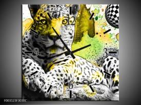 Wandklok op Canvas Natuur   Kleur: Groen, Zwart, Wit   F003123C