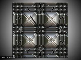 Wandklok op Canvas Modern | Kleur: Grijs, Zwart | F005247C
