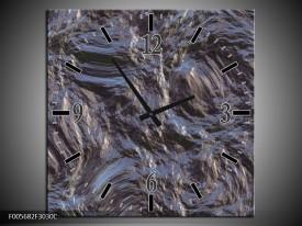 Wandklok op Canvas Art | Kleur: Grijs, Zwart | F005682C