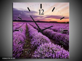 Wandklok op Canvas Lavendel | Kleur: Paars | F006079C