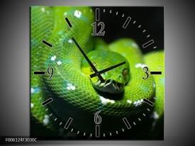 Wandklok op Canvas Natuur | Kleur: Groen, Zwart | F006124C